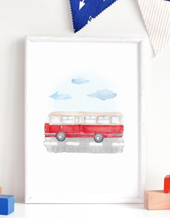 A unique keepsake that will create enchanting memories, the Autobus Children's Poster is a really unique and eyecatching print that is loved by kids and adults. Encourage their wild side with this fun print. Designed in a playful font, they will make a great addition to any nursery, child's room, or playroom.