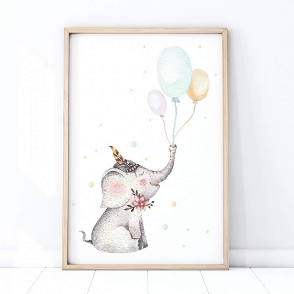Baby Elephant Children's Poster
