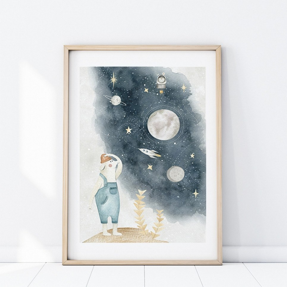 Beautiful Space Children's Poster