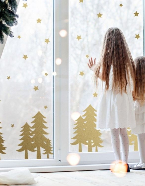 A beautiful scene for children's rooms and nurseries, the Christmas Trees and Stars Children's Wall Sticker is the perfect addition to any empty space (like walls or furniture). These wall stickers provide a flexible and cost-effective way to decorate your home.