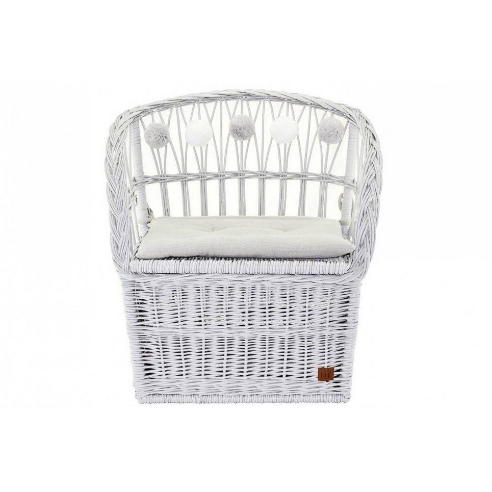 Gray Wicker Seat With Trunk