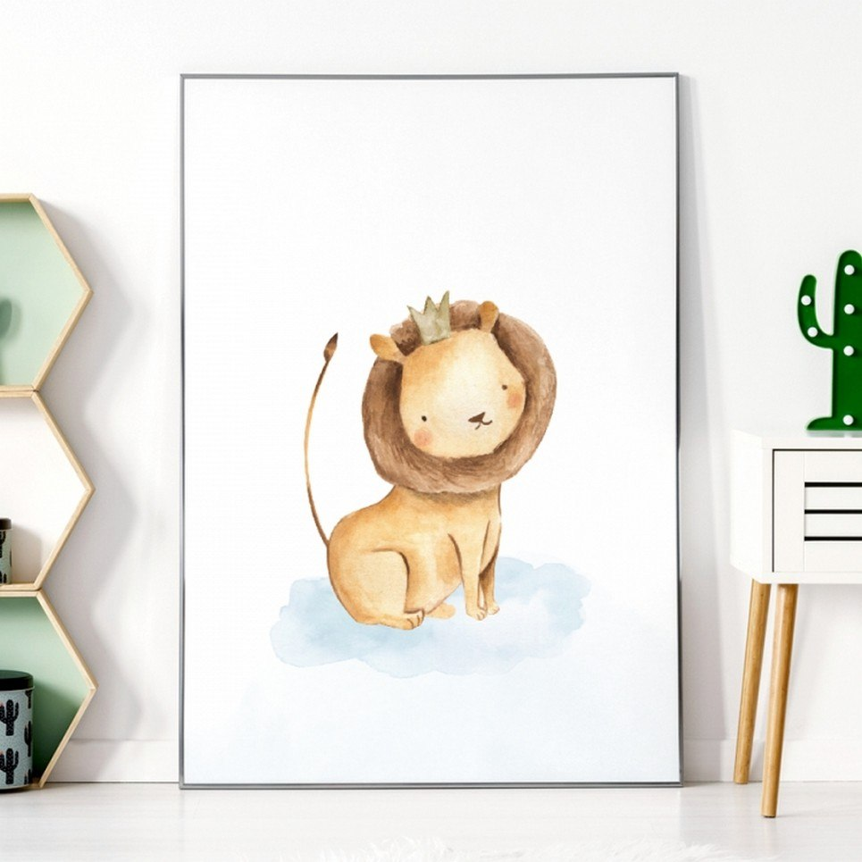 Lion Children's Poster