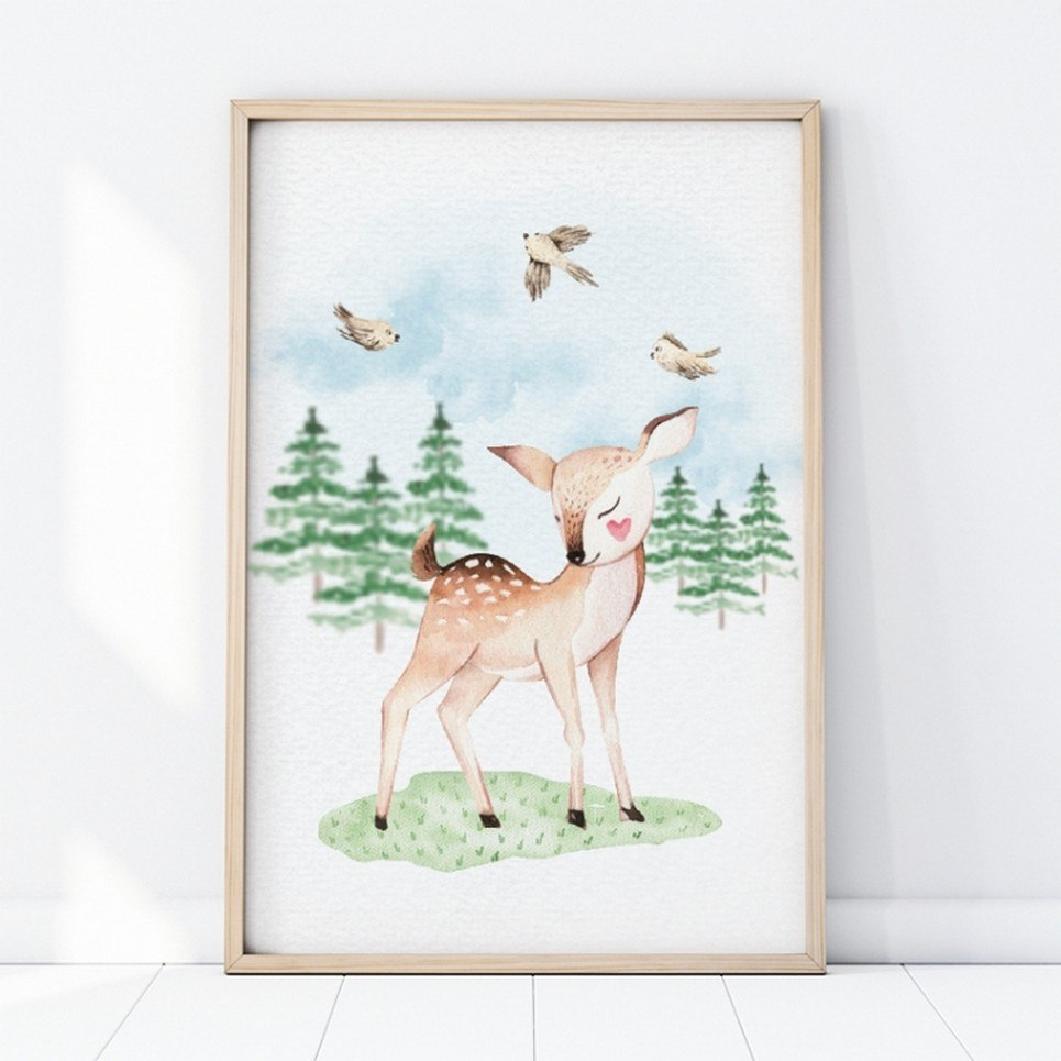 Little Deer Children's Poster