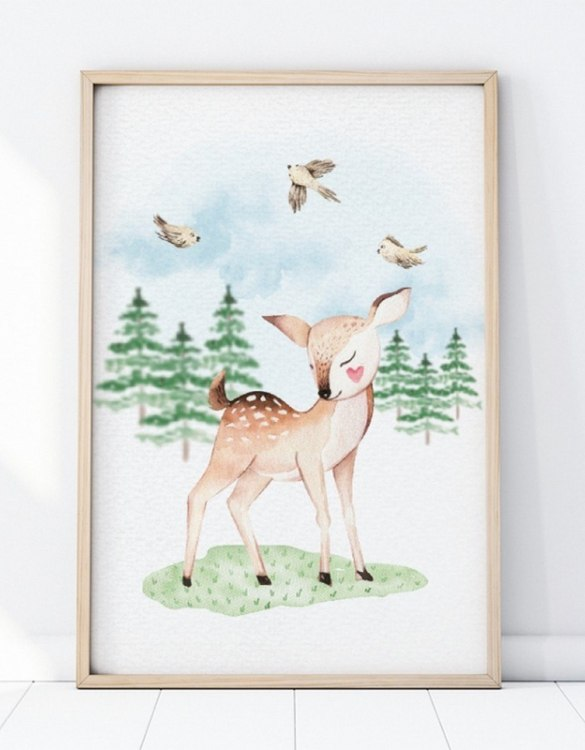 A unique keepsake that will create enchanting memories, the Little Deer Children's Poster is a really unique and eyecatching print that is loved by kids and adults. Encourage their wild side with this fun print. Designed in a playful font, they will make a great addition to any nursery, child's room, or playroom.