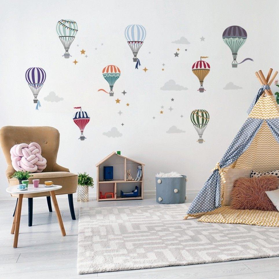 Minimalist Hot Air Balloon Children's Wall Sticker