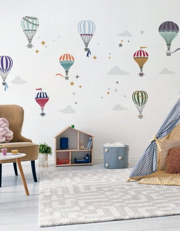 A beautiful scene for children's rooms and nurseries, the Minimalist Hot Air Balloon Children's Wall Sticker is the perfect addition to any empty space (like walls or furniture). These wall stickers provide a flexible and cost-effective way to decorate your home.