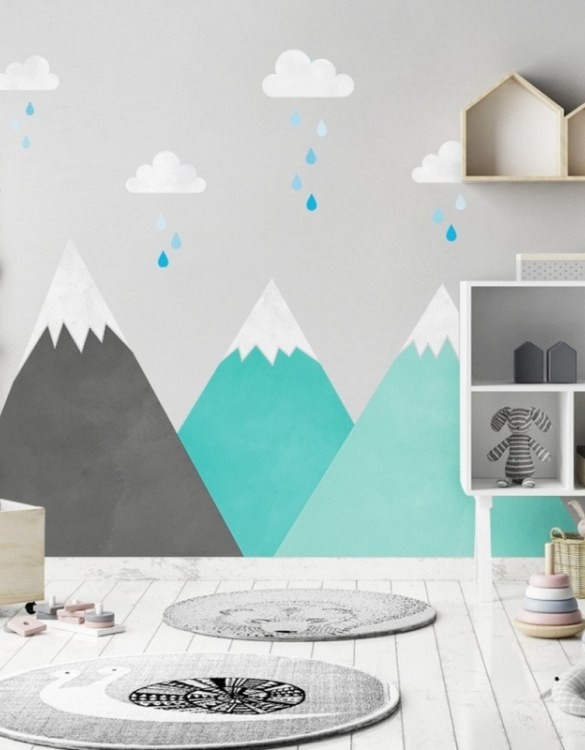 A beautiful scene for children's rooms and nurseries, the Mint Mountains and Clouds Children's Wall Sticker is the perfect addition to any empty space (like walls or furniture). These wall stickers provide a flexible and cost-effective way to decorate your home.