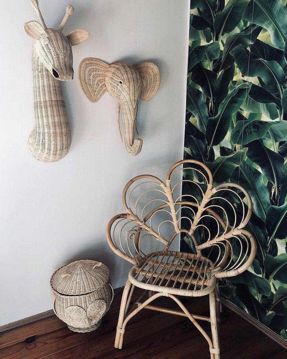Natural Small Rattan Flower Armchair