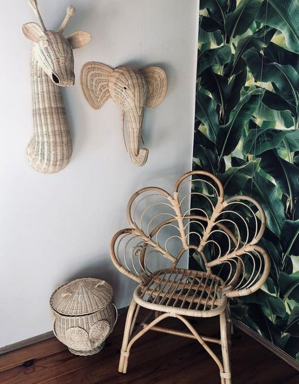 A great way to invite nature into your home, the Natural Small Rattan Flower Armchair is an extraordinary decoration for a toddler's and older child's room and a very comfortable piece of rattan furniture.