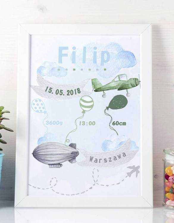 Perfect for a new baby or christening gift, the Personalised Around The World Baby Birth Print features the details of a new baby's birth, the perfect present for a new baby.