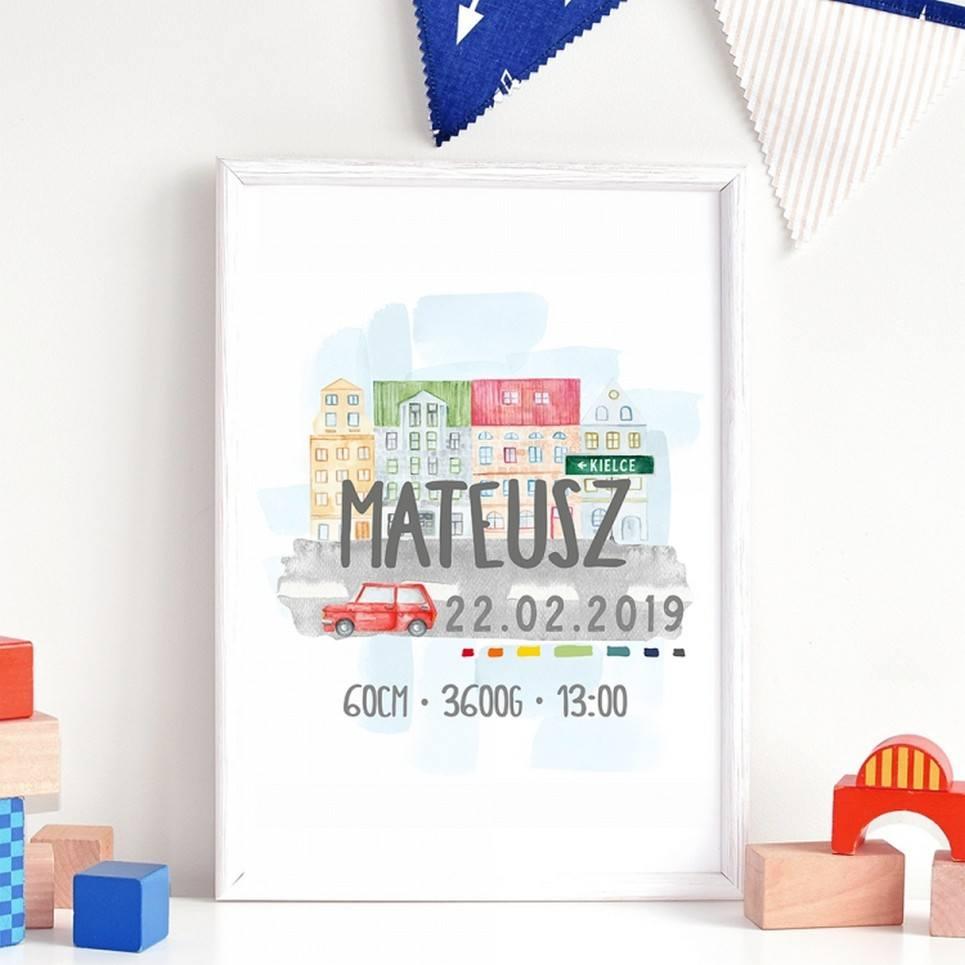 Personalised City Baby Birth Print