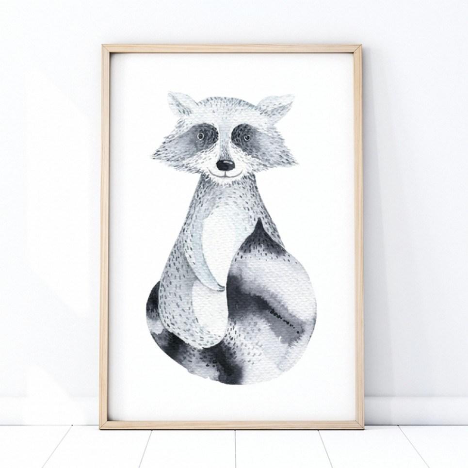 Raccoon Children's Poster