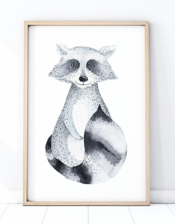 A unique keepsake that will create enchanting memories, the Raccoon Children's Poster is a really unique and eyecatching print that is loved by kids and adults. Encourage their wild side with this fun print. Designed in a playful font, they will make a great addition to any nursery, child's room, or playroom.