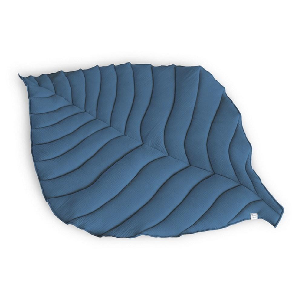 Soft Navy Leaf Play Mat – 3
