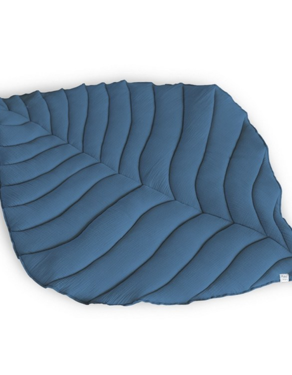 Beautifully soft, the Soft Navy Leaf Play Mat can be used for babies to lay on for tummy time or sensory play. A young mind is guaranteed to be amused for hours, exploring and discovering new senses and textures.