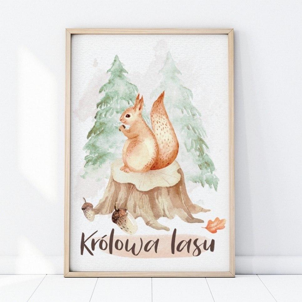 Squirrel Children's Poster Children's Poster