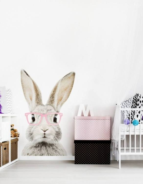 A beautiful scene for children's rooms and nurseries, the Stefan Rabbit With Glasses Children's Wall Sticker is the perfect addition to any empty space (like walls or furniture). These wall stickers provide a flexible and cost-effective way to decorate your home.