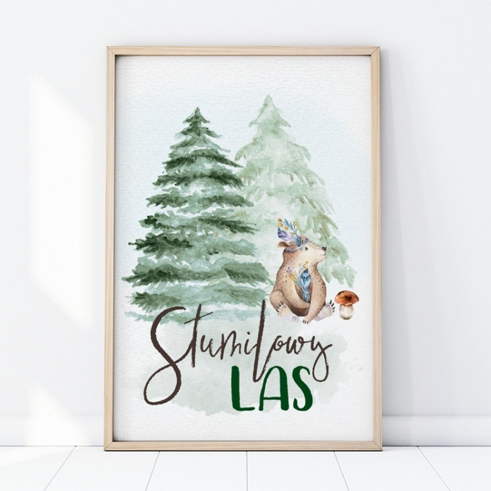 Stumilowy Las Children's Poster