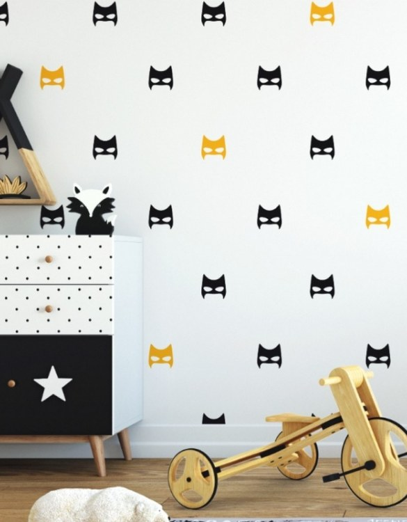A beautiful scene for children's rooms and nurseries, the Super Hero Masks Children's Wall Sticker is the perfect addition to any empty space (like walls or furniture). These wall stickers provide a flexible and cost-effective way to decorate your home.