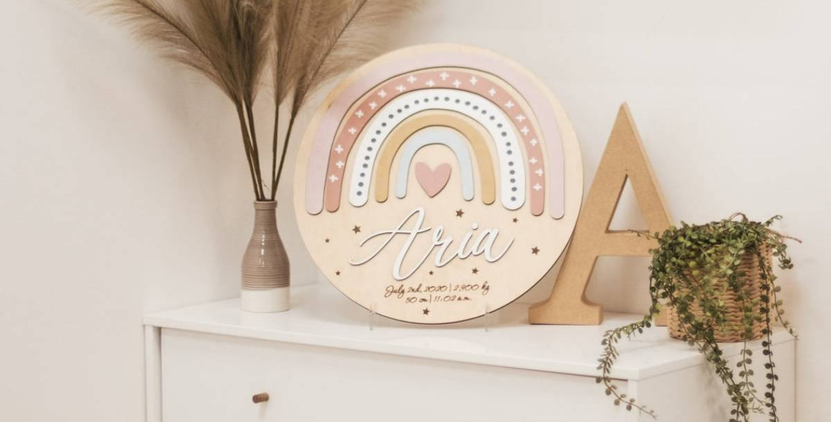 Personalised baby name signs are a must-have for any nursery. They are the perfect finishing touch to welcome your bundle of joy to their new home.