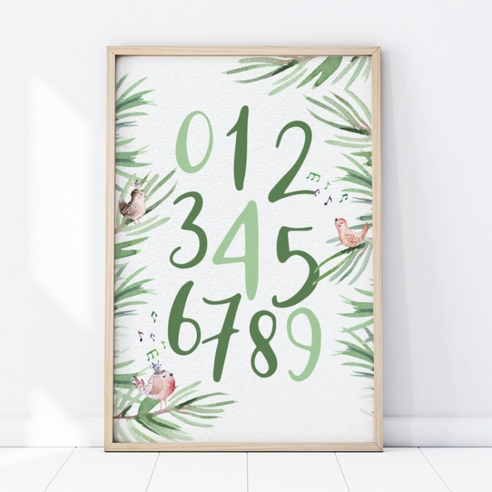 Tropical Numbers Children's Poster