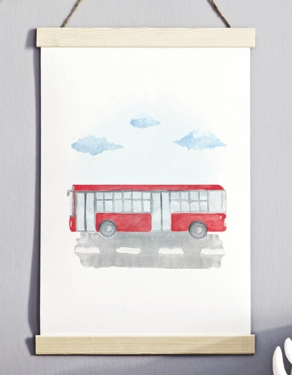 A unique keepsake that will create enchanting memories, the Unique Autobus Children's Poster is a really unique and eyecatching print that is loved by kids and adults. Encourage their wild side with this fun print. Designed in a playful font, they will make a great addition to any nursery, child's room, or playroom.