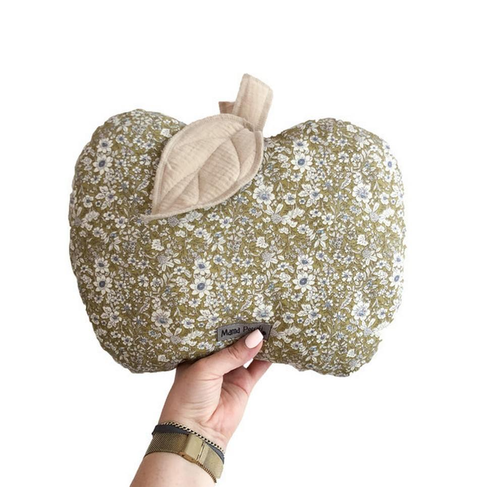 Apple-shaped Pillow Olive