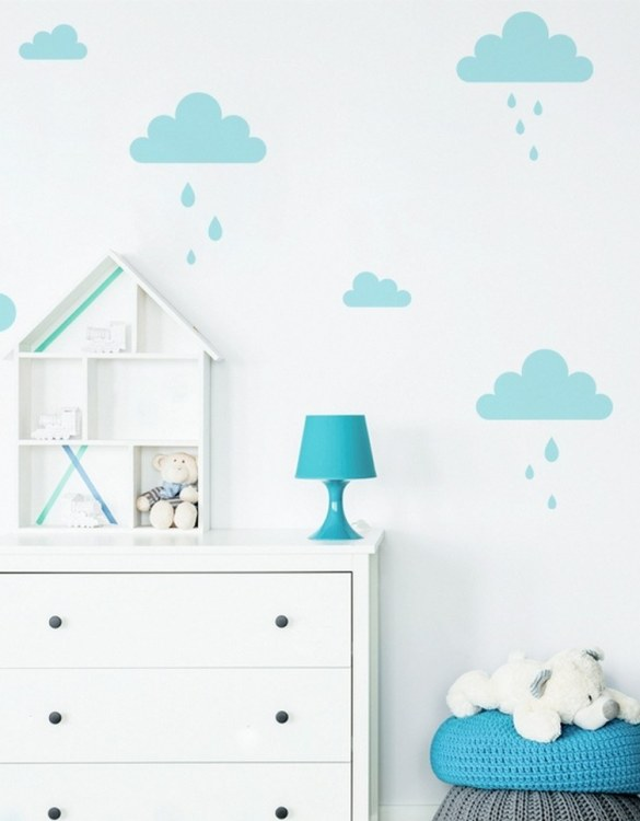 A beautiful scene for children's rooms and nurseries, the Blue Pastel Clouds Children's Wall Sticker is the perfect addition to any empty space (like walls or furniture). These wall stickers provide a flexible and cost-effective way to decorate your home.