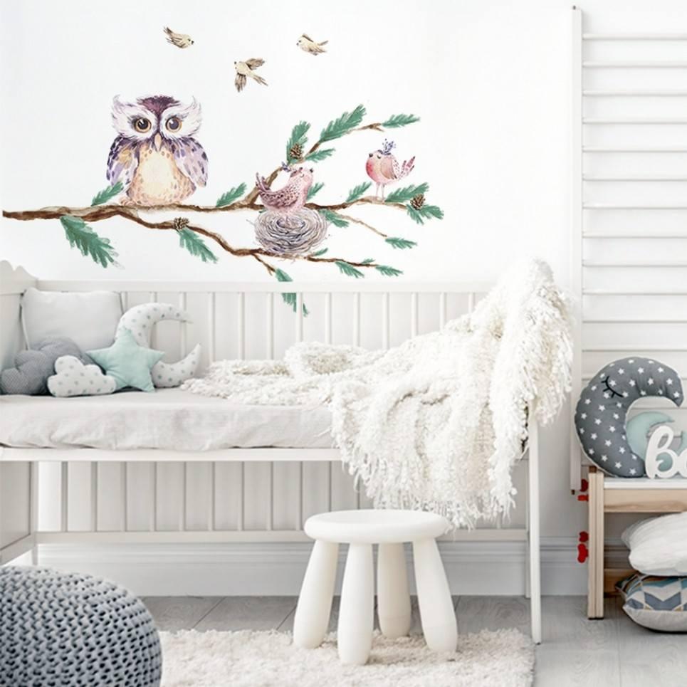 Branch with Owl Children's Wall Sticker