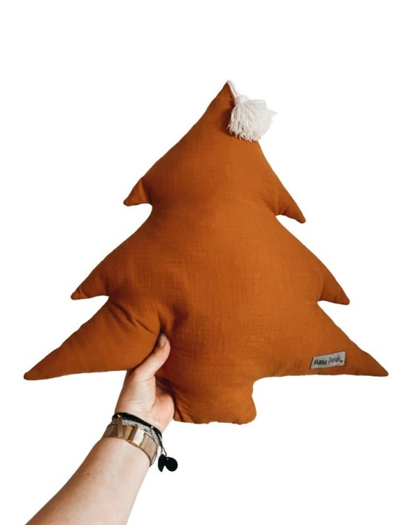 Perfect for any little one or teenager's bedroom, the Christmas Tree Pillow is great for finishing up your little one's playroom. Your kids will love it! This children's cushion is super soft and super cute. A beautiful addition to any nursery or kids' room.