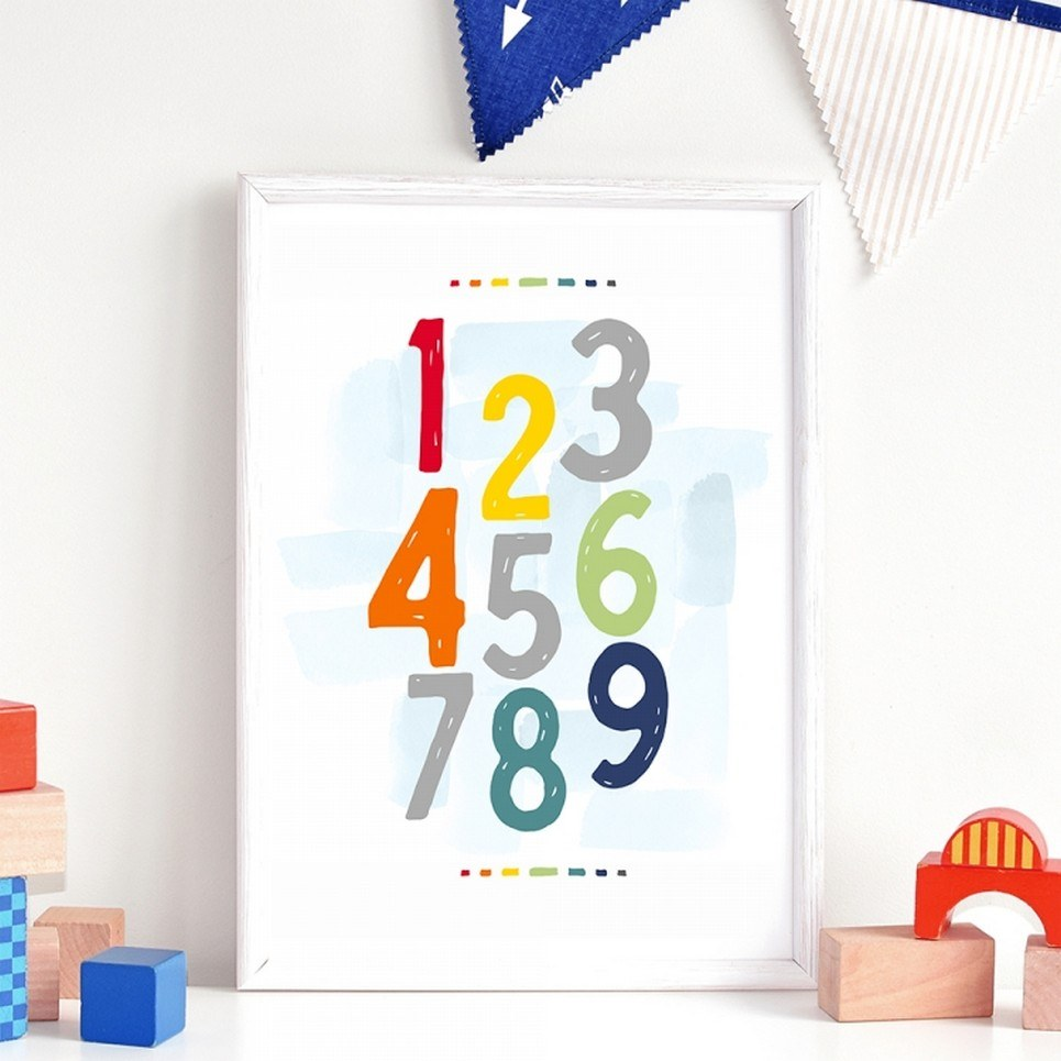 City Numbers Children's Poster