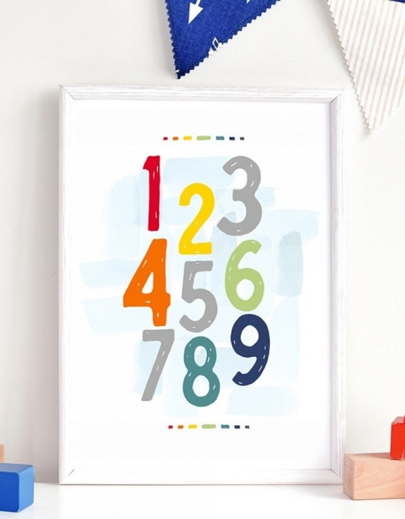A unique keepsake that will create enchanting memories, the City Numbers Children's Poster is a really unique and eyecatching print that is loved by kids and adults. Encourage their wild side with this fun print. Designed in a playful font, they will make a great addition to any nursery, child's room, or playroom.