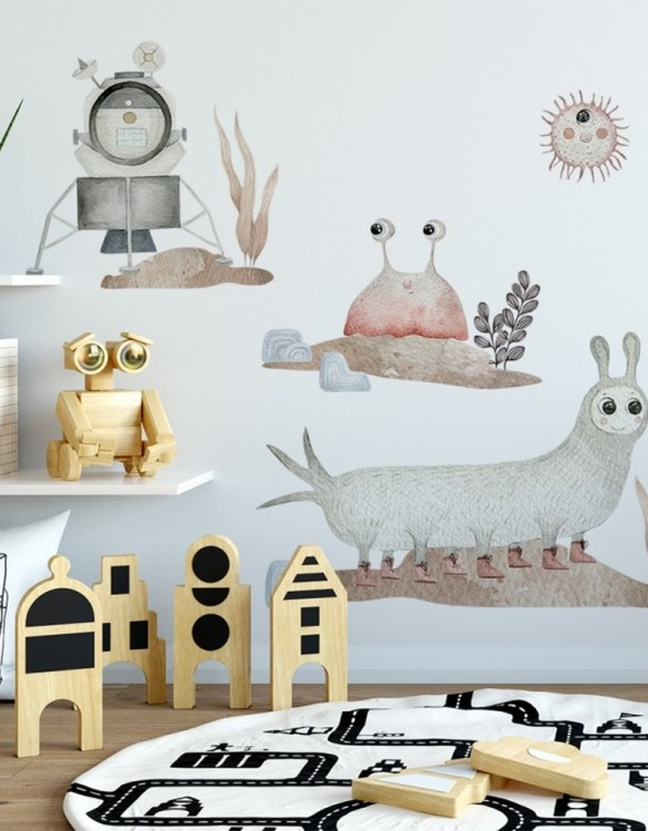 A beautiful scene for children's rooms and nurseries, the Cosmic Boll and Atomic Set Children's Wall Sticker is the perfect addition to any empty space (like walls or furniture). These wall stickers provide a flexible and cost-effective way to decorate your home.