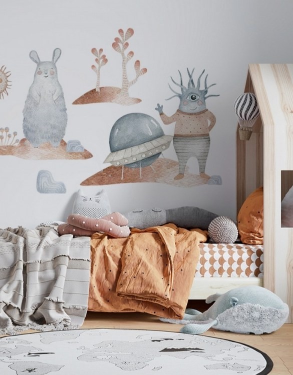 A beautiful scene for children's rooms and nurseries, the Cosmic Set Tolek and Kedziorek Children's Wall Sticker is the perfect addition to any empty space (like walls or furniture). These wall stickers provide a flexible and cost-effective way to decorate your home.
