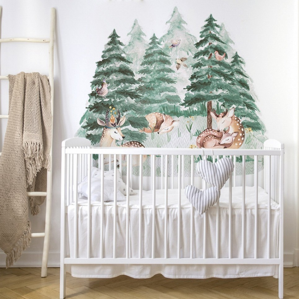 Cute Deer Forest Children's Wall Sticker