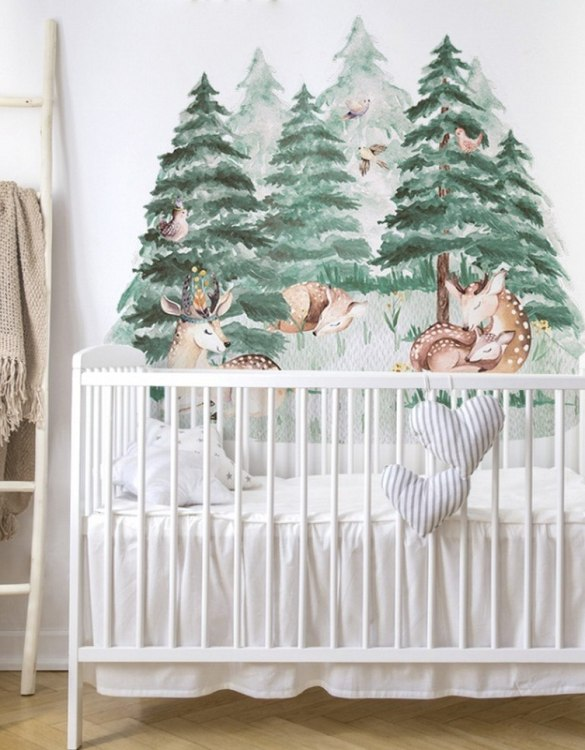 A beautiful scene for children's rooms and nurseries, the Cute Deer Forest Children's Wall Sticker is the perfect addition to any empty space (like walls or furniture). These wall stickers provide a flexible and cost-effective way to decorate your home.