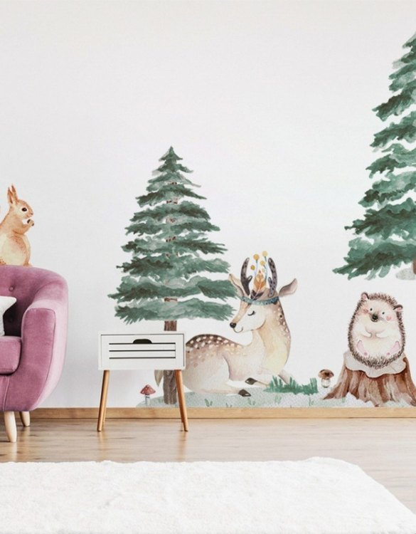 A beautiful scene for children's rooms and nurseries, the Deer Hedge Truck Children's Wall Sticker is the perfect addition to any empty space (like walls or furniture). These wall stickers provide a flexible and cost-effective way to decorate your home.