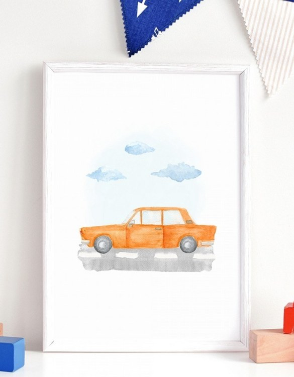 A unique keepsake that will create enchanting memories, the Fiat Children's Poster is a really unique and eyecatching print that is loved by kids and adults. Encourage their wild side with this fun print. Designed in a playful font, they will make a great addition to any nursery, child's room, or playroom.