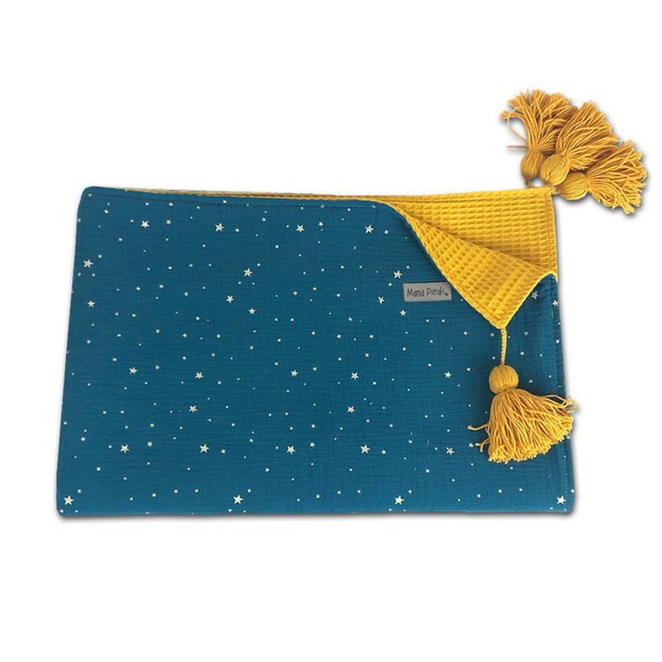 Gold Stars Soft Baby Blanket