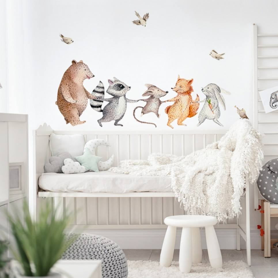 Happy Animals Children's Wall Sticker