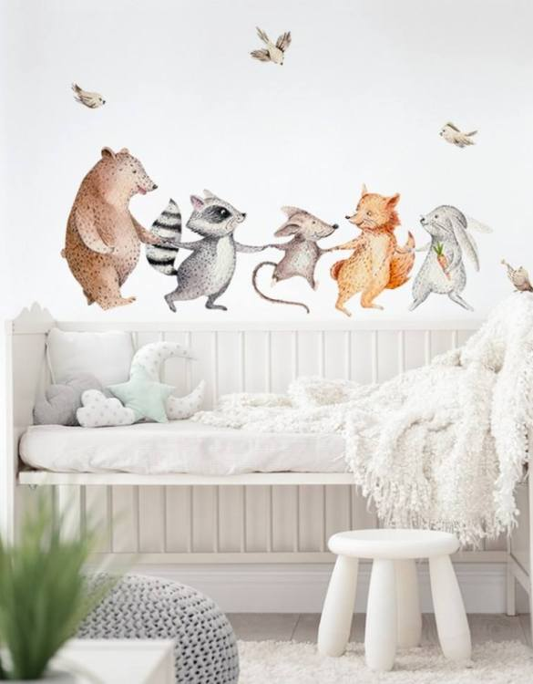 A beautiful scene for children's rooms and nurseries, the Happy Animals Children's Wall Sticker is the perfect addition to any empty space (like walls or furniture). These wall stickers provide a flexible and cost-effective way to decorate your home.