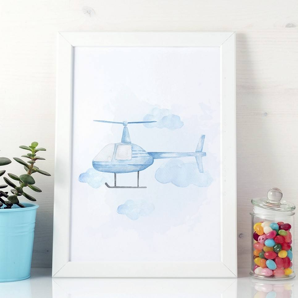 Helicopter Children's Poster