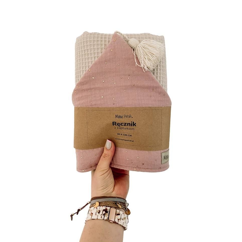 Hooded Towel Dusty Gold Pink