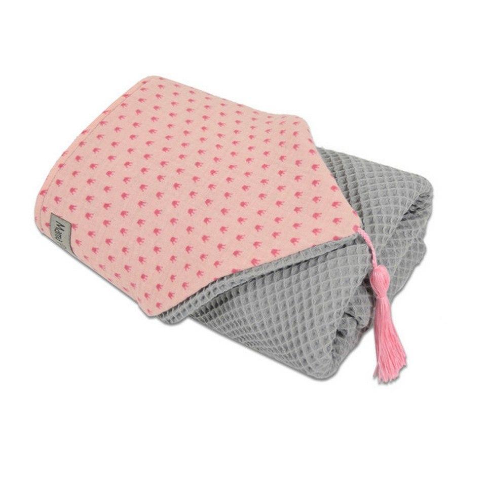Hooded Towel Pink Crown