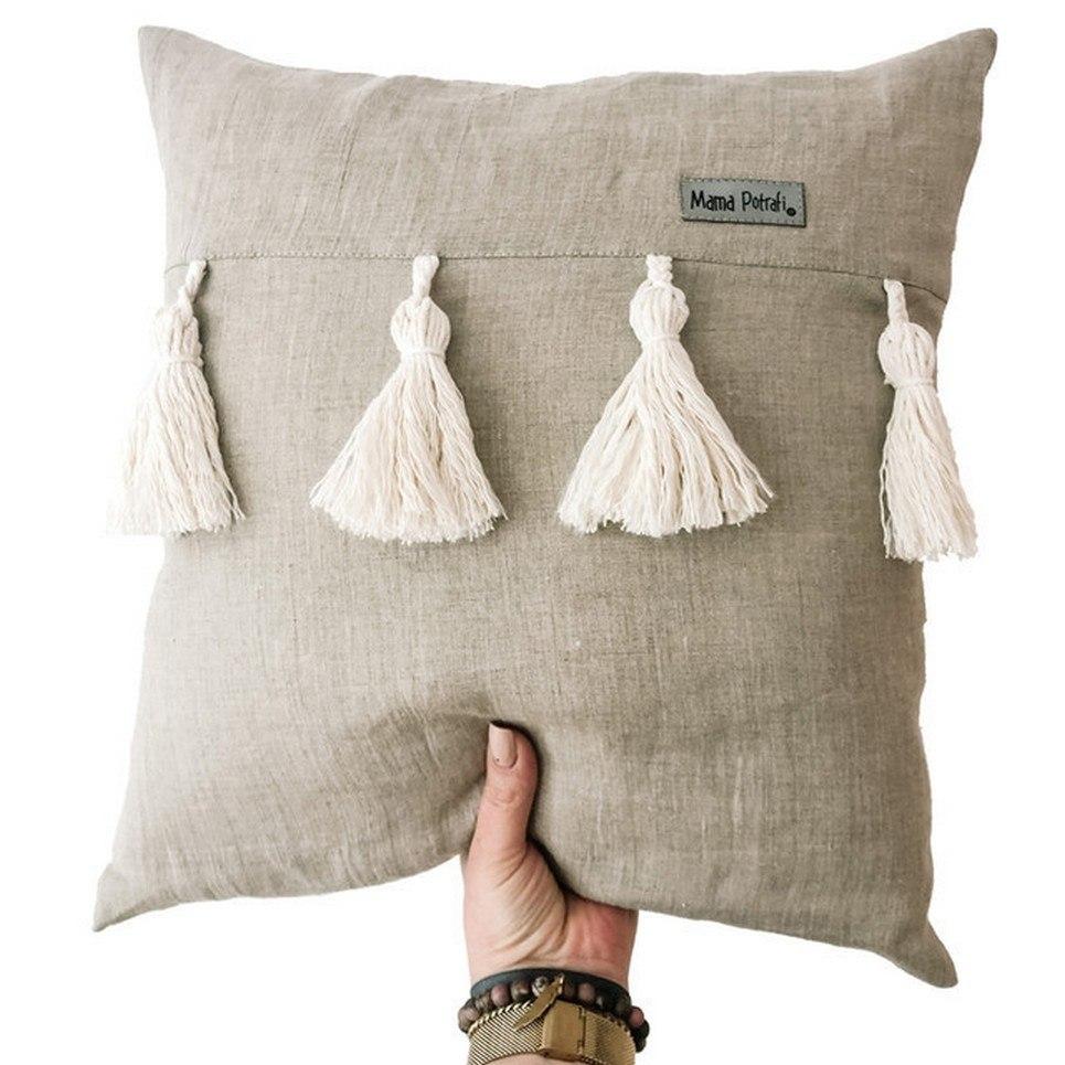 Linen Boho Children's Pillow