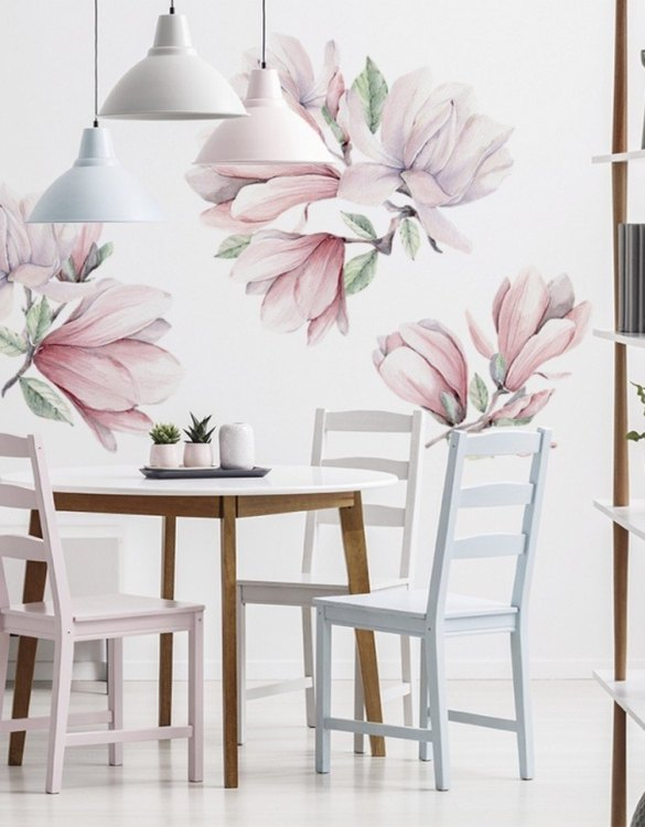 A beautiful scene for children's rooms and nurseries, the Magnolies Children's Wall Sticker is the perfect addition to any empty space (like walls or furniture). These wall stickers provide a flexible and cost-effective way to decorate your home.