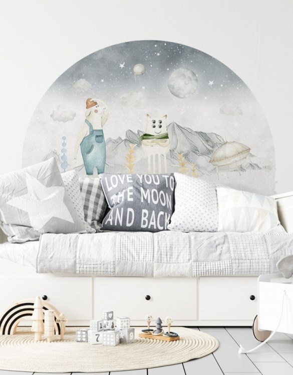 A beautiful scene for children's rooms and nurseries, the Marian I Kazik Children's Wall Sticker is the perfect addition to any empty space (like walls or furniture). These wall stickers provide a flexible and cost-effective way to decorate your home.