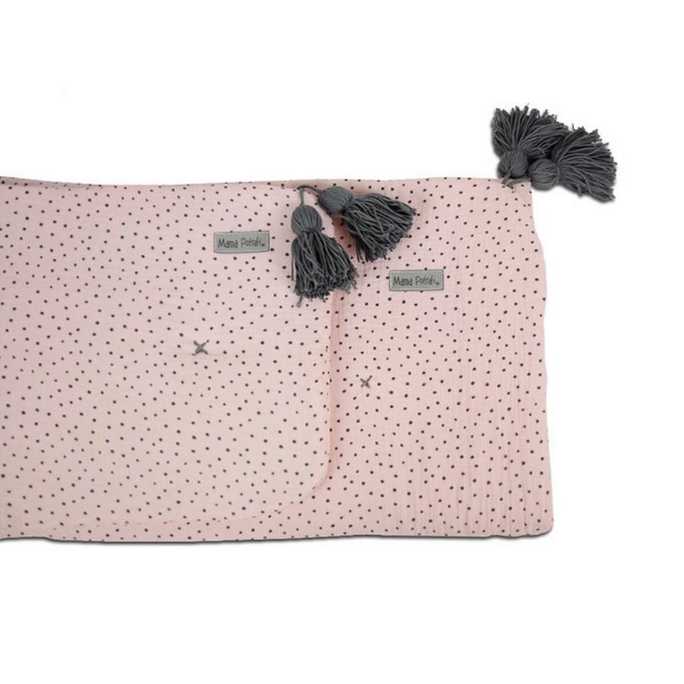 Muslin Newborn Bedding Filled Dots