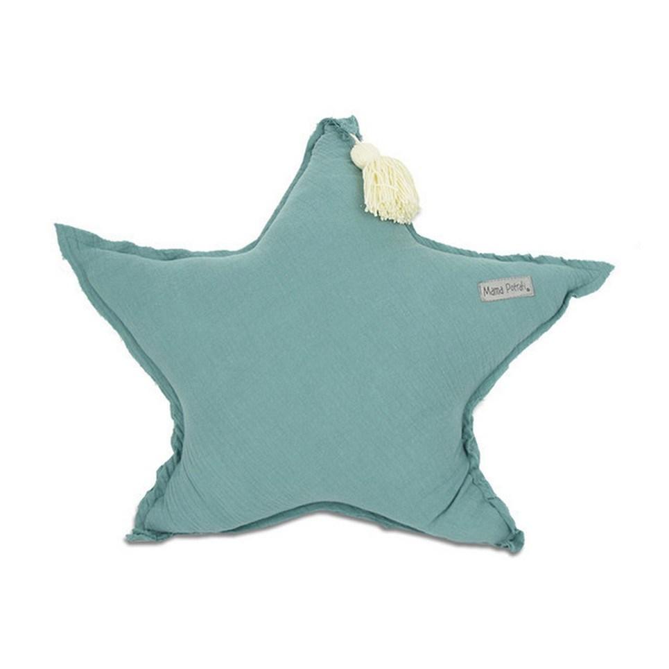 Muslin Sage Green Star