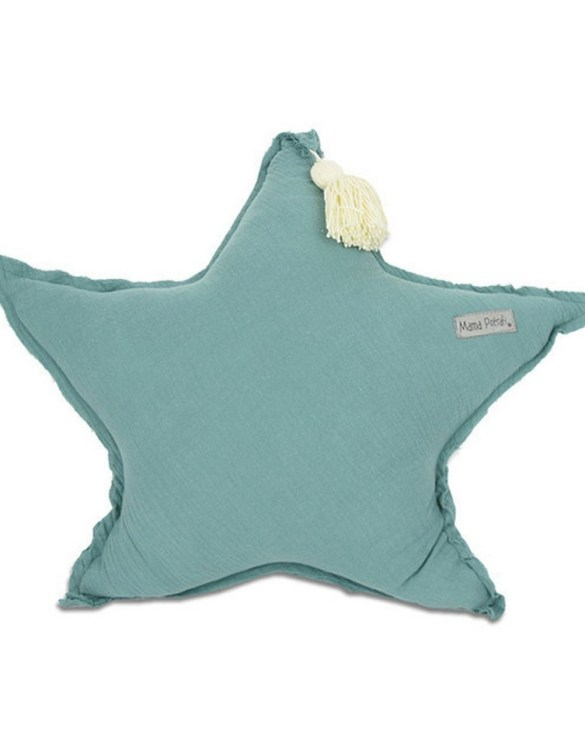 Perfect for any little one or teenager's bedroom, the Muslin Sage Green Star is great for finishing up your little one's playroom. Your kids will love it! This children's cushion is super soft and super cute. A beautiful addition to any nursery or kids' room.